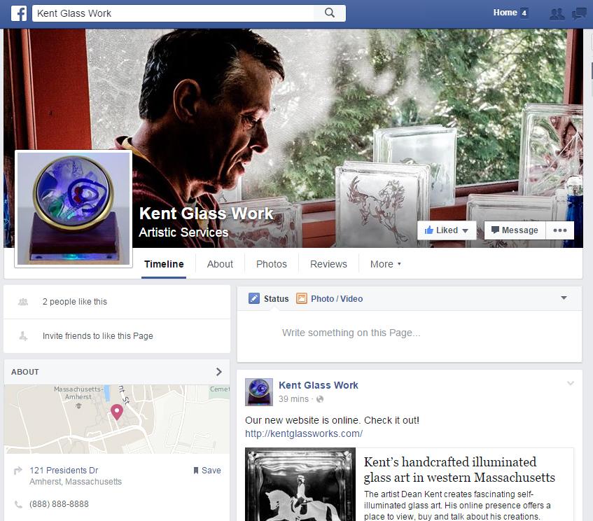 Kent Glass Work Facebook Site