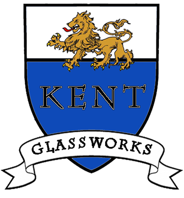 Former Kent Glass Work Logo with Shield an Lion